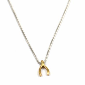 Hultquist Ketting Wishbone Gold Small I Zilver
