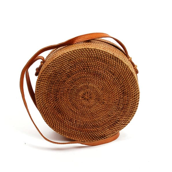 Buddha Ibiza Straw Bag Round Large