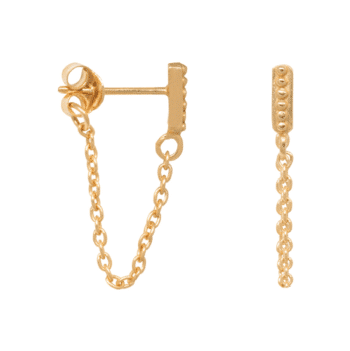 ELINE-ROSINA-DREAM-GIRL-SMALL-DOTS-CHAIN-EARRINGS-GOUD www.buddha-ibiza.nl