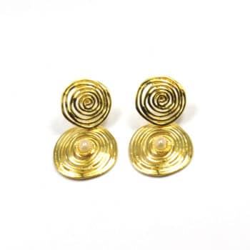 GAS-BIJOUX-WAVE-STONE-EARRINGS-GOUD-299495 www.buddha-ibiza.nl