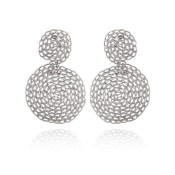GAS-BIJOUX-ONDE-GOURMETTE-EARRINGS-SMALL-SIZE-ZILVER-386354 www.buddha-ibiza.nl