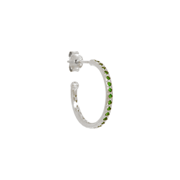 ELINE-ROSINA-OORBEL-MIX-and-MATCH-LARGE-EMERALD-HOOP-ZILVER www.buddha-ibiza.nl.png