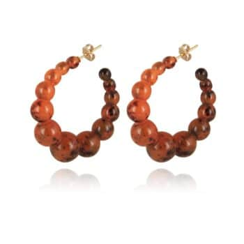 GAS-BIJOUX-OORBELLEN-ANDY-HOOP-EARRINGS-ACETATE-AMBER-GOUD-420114-43 www.buddha-ibiza.nl