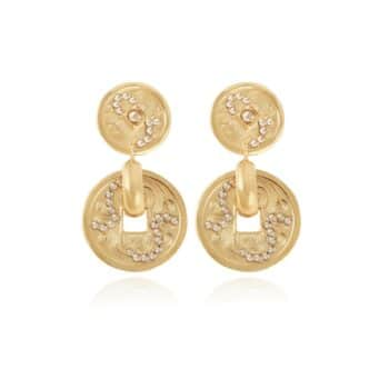 GAS-BIJOUX-OORBELLEN-AURELIA-STRASS-EARRINGS-GOUD-164126 www.buddha-ibiza.nl