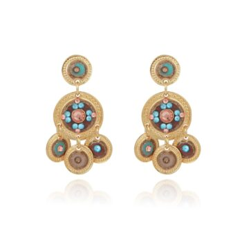 GAS-BIJOUX-SEQUIN-TWO-ROWS-EARRINGS-GOUD-01 www.buddha-ibiza.nl