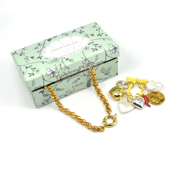 TIMELESS-PEARLY-KETTING-WEEKLY-BOX-GOUD-1130 www.buddha-ibiza.nl