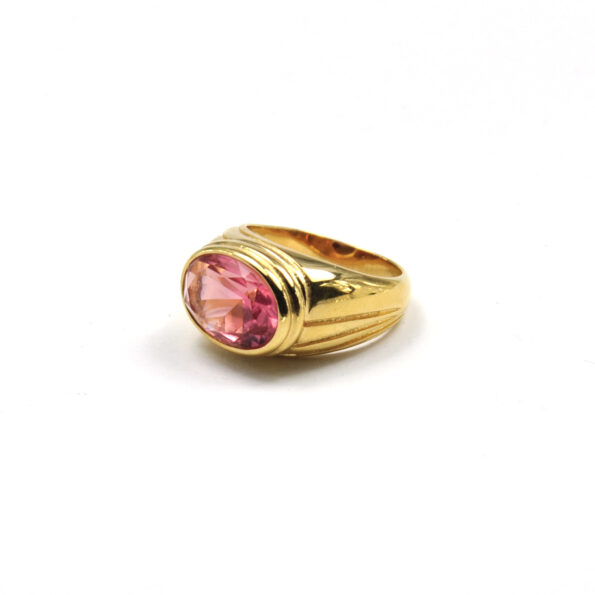 TIMELESS-PEARLY-RING-CHUNKY-PINK-CRYSTAL-GOUD-02 www.buddha-ibiza.nl