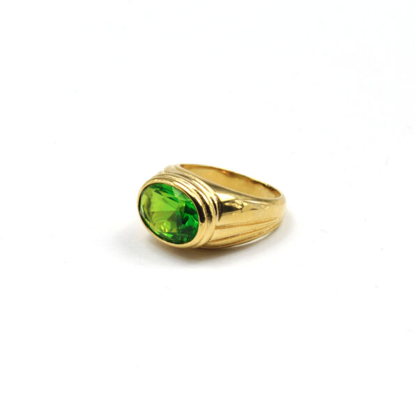 TIMELESS-PEARLY-RING-ITALIAN-GREEN-CRYSTAL-GOUD-02 www.buddha-ibiza.nl