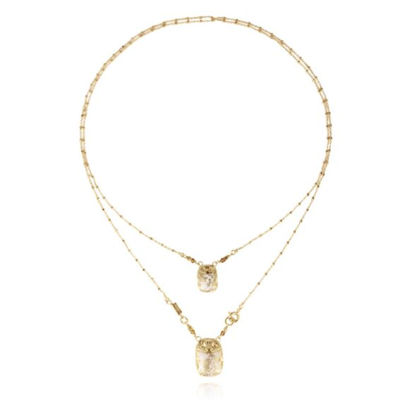 GAS-BIJOUX-KETTING-SCAPULAIRE-SCARAMOUCHE-EMAIL-GOUD-1034 www.buddha-ibiza.nl
